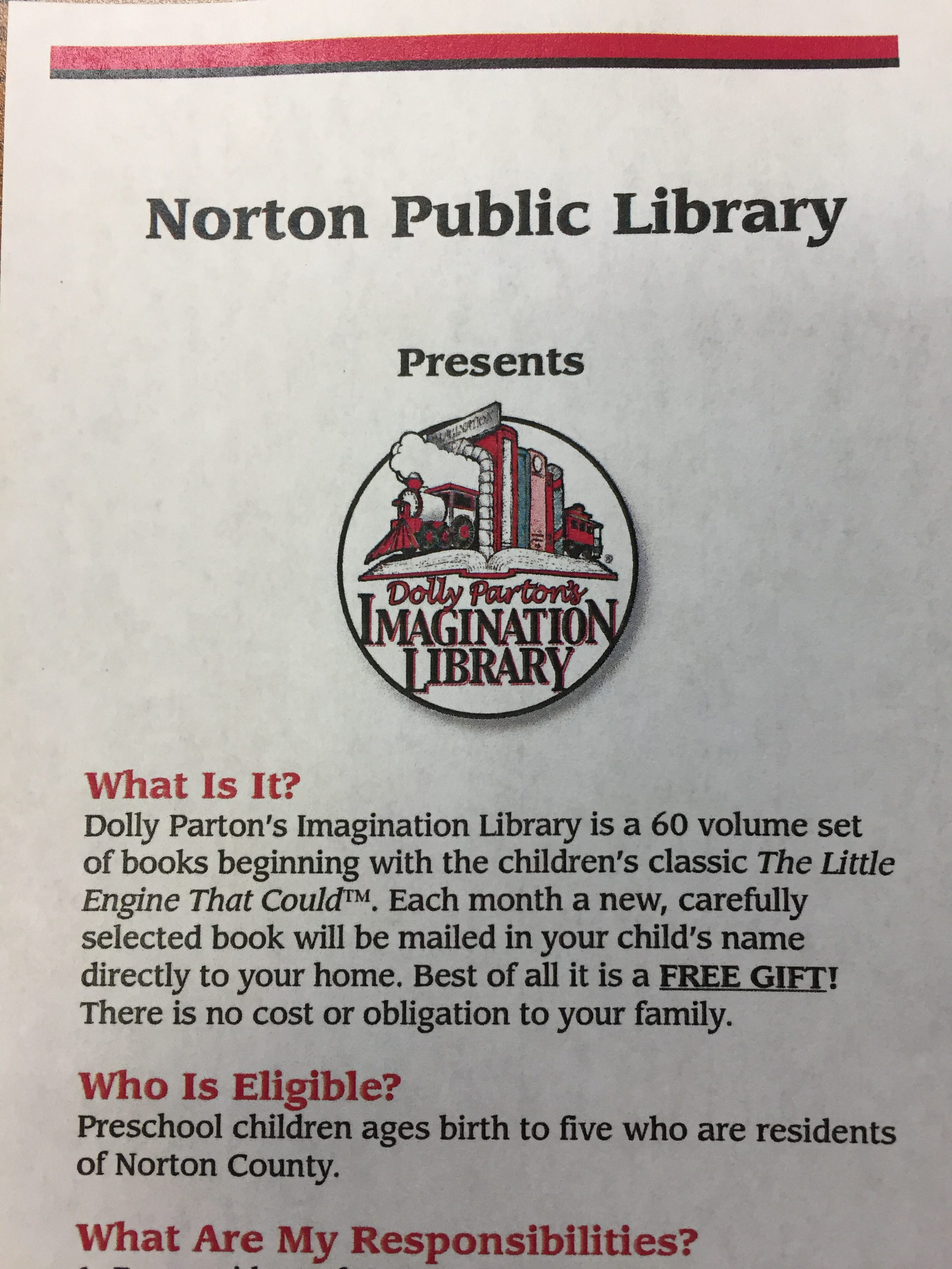 Npl Is Now Part Of The Dolly Parton Imagination Library! Stop In The Library  And